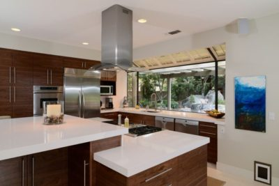 Kitchen remodeled for universal design