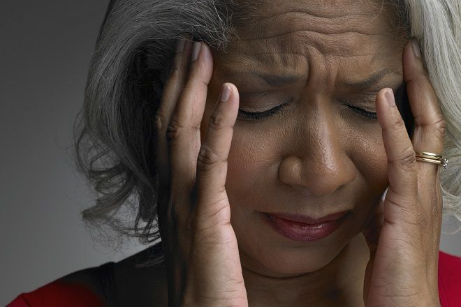 Headache caused by carbon monoxide poisoning