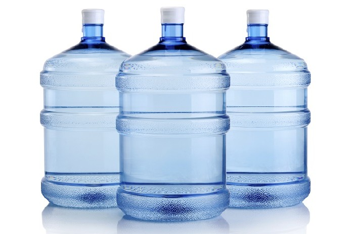 One-gallon bottles of water