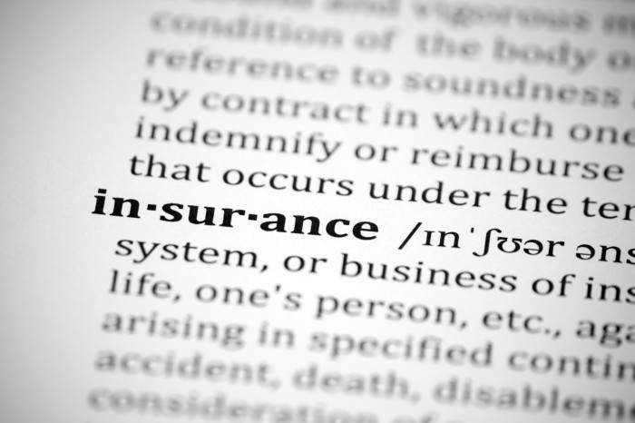 Insurance terminology.