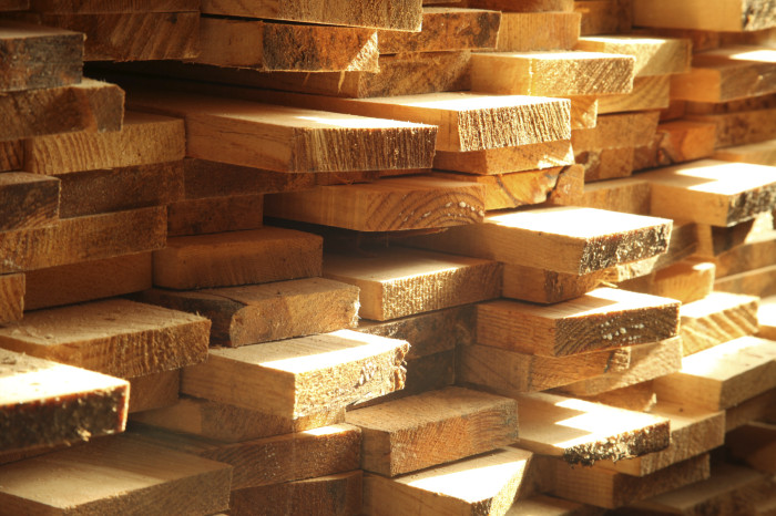 Wooden building materials.