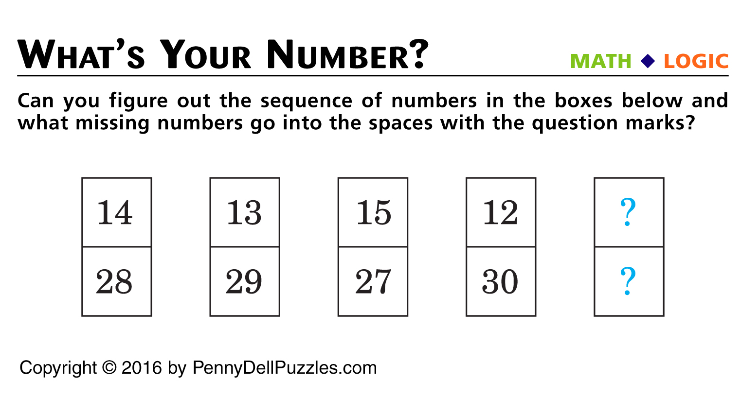 Whats Your Number Brain Teaser