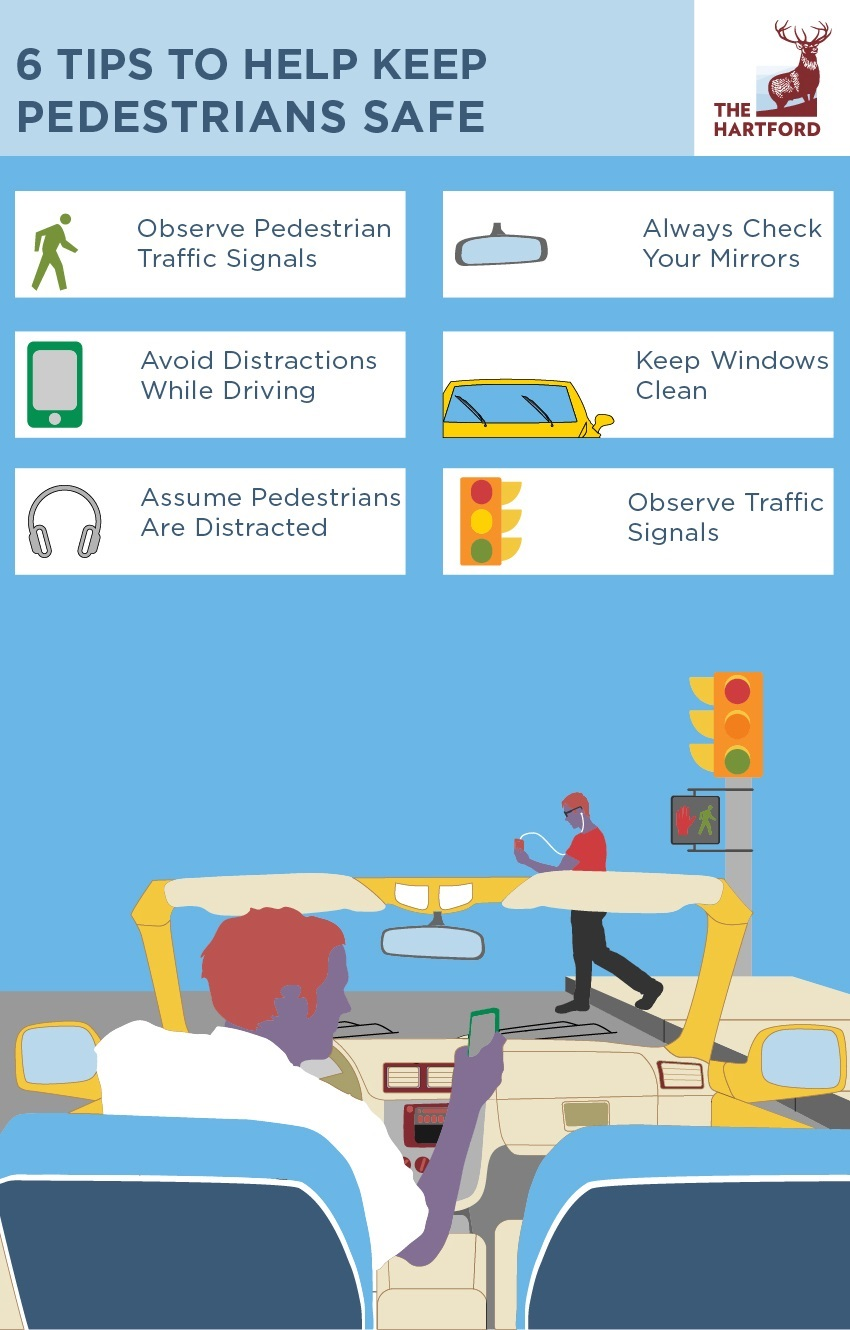 6 Tips to Help Keep Pedestrians Safe Infographic