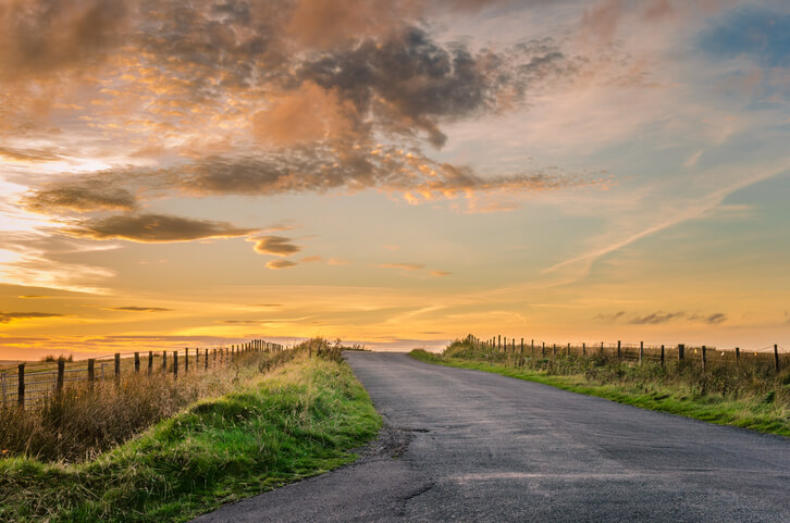 Sunset on Country Road