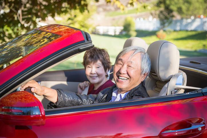 Happy Couple Rent A Car