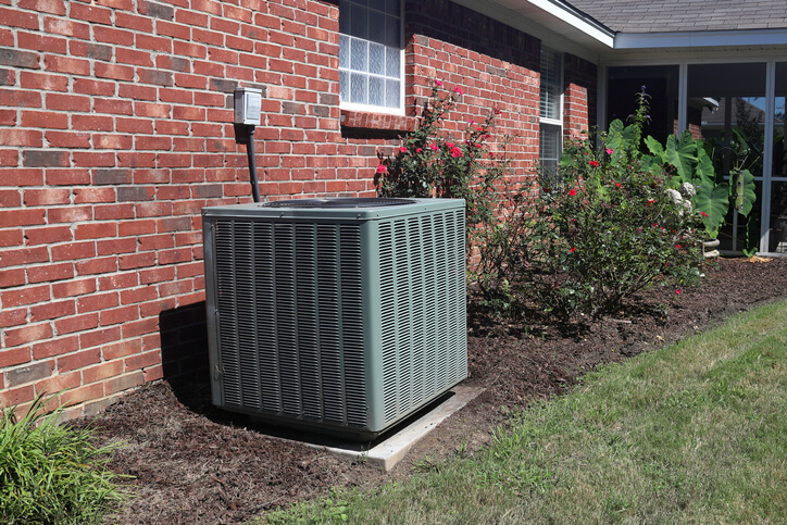Air Conditioning Unit Outside Home For Summer