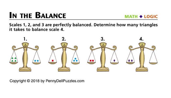 In the Balance Brain Teaser