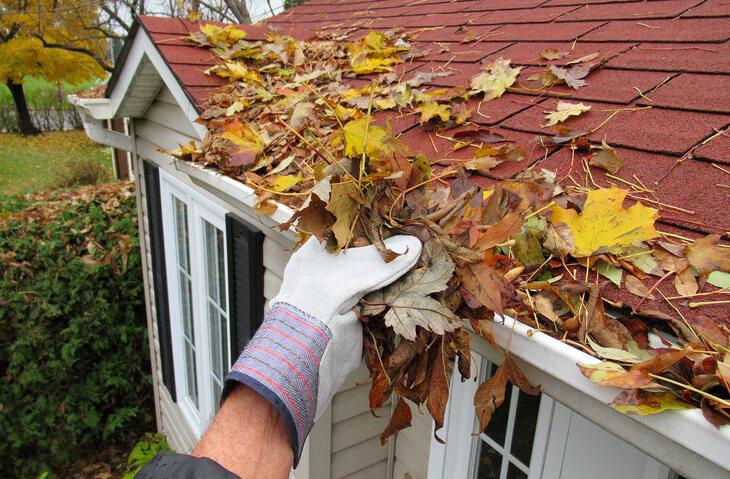 Gutter cleaning helps prevent flood damage