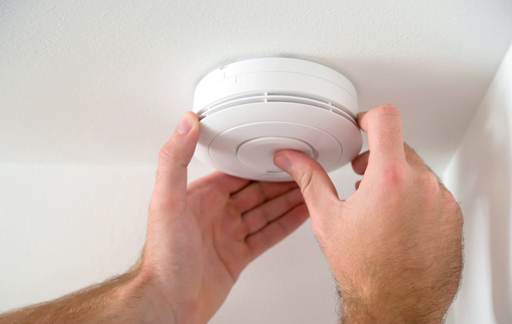 Installing smoke detector to fire claim