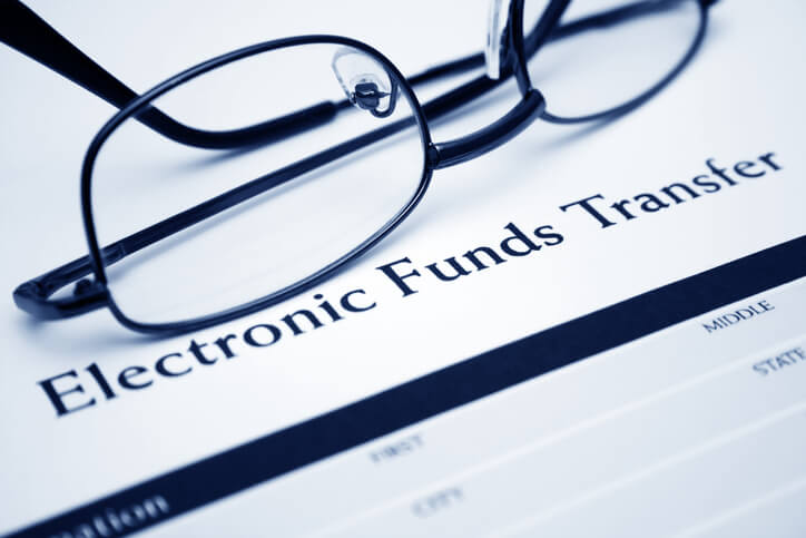 Paying bills via electronic funds transfer