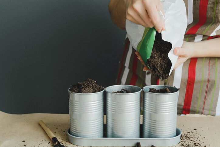 Using potting potting soil for vegetable garden