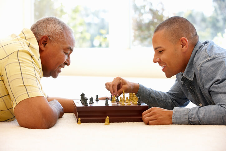Best Advice From Dad Playing Chess