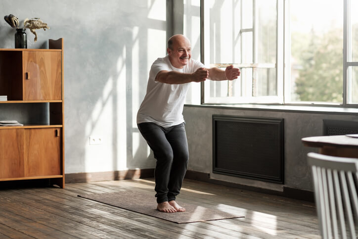 Man Practicing Mindfulness Through Yoga