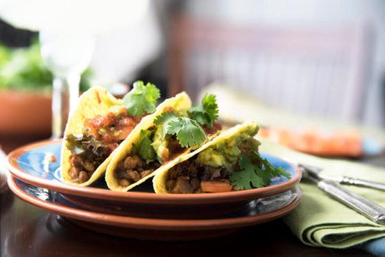 Cheesy Lentil Tacos Recipe