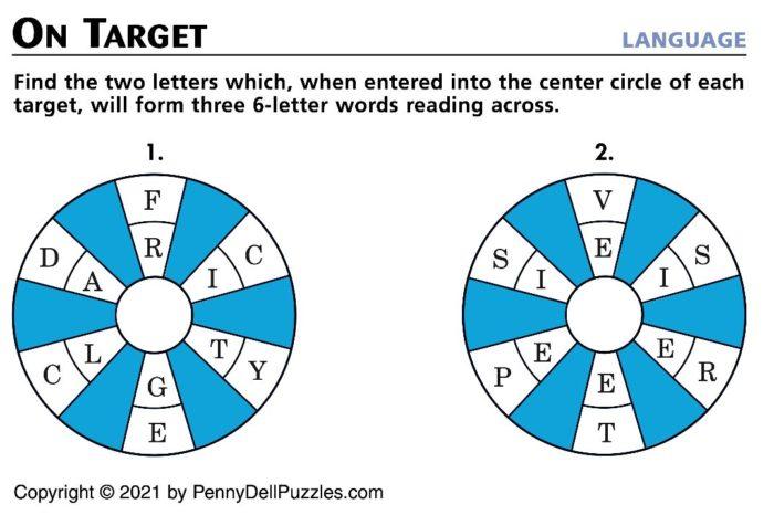 Brain Teaser On Target Puzzle