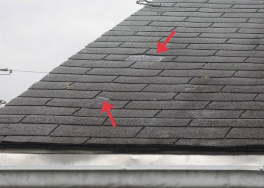 Roof Damage from Wind